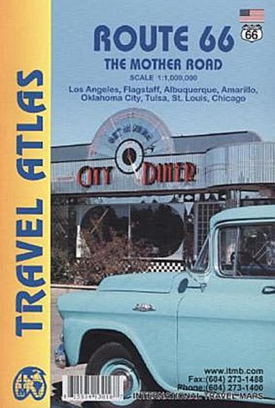 Route 66 Travel Atlas 1 : 1 840 000