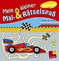 Mein kleiner Mal- & Rätselspaß. Rennautos; Malbücher und -blöcke; Ill. v. Schmidt, Sandra; Deutsch; s/w