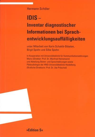 IDIS, Inventar diagnostischer Informationen bei Sprachentwicklungsauffälligkeiten