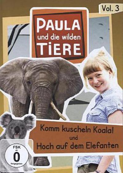 Paula und die wilden Tiere - Komm kuscheln Koala! / Hoch auf dem Elefanten, 1 DVD