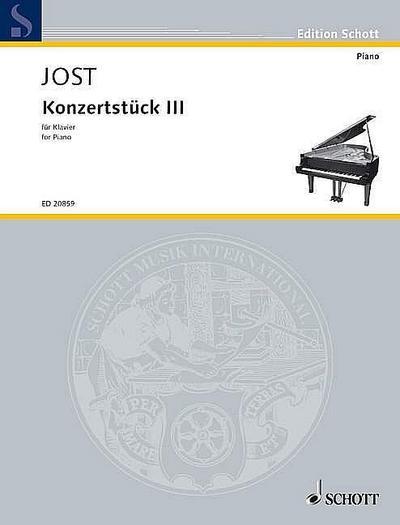 Konzertstück III: revidierte Fassung. Klavier. (Edition Schott)