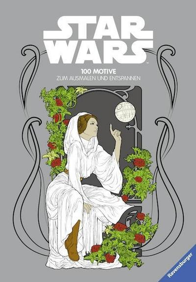 Star Wars™ - 100 Motive zum Ausmalen und Entspannen; Ill. v. The Walt Disney Company; Deutsch; durchg. schw.-w. Ill.