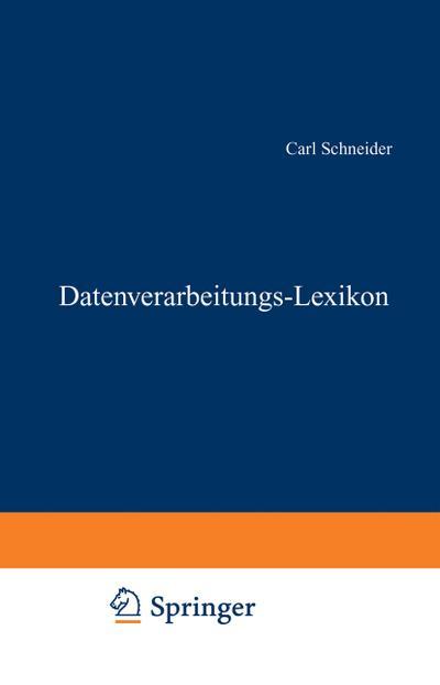 Datenverarbeitungs-Lexikon