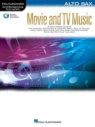 Movie and TV Music for Alto Sax: Instrumental Play-Along Series [With Access Code]