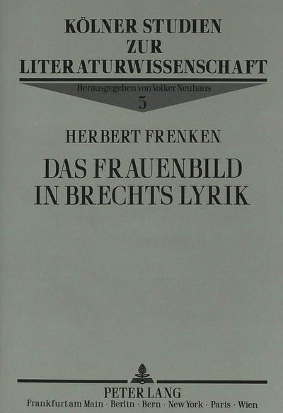 Das Frauenbild in Brechts Lyrik