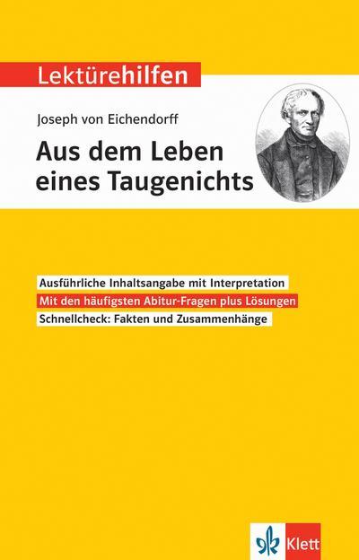 Lektürehilfen Joseph von Eichendorff, Aus dem Leben eines Taugenichts