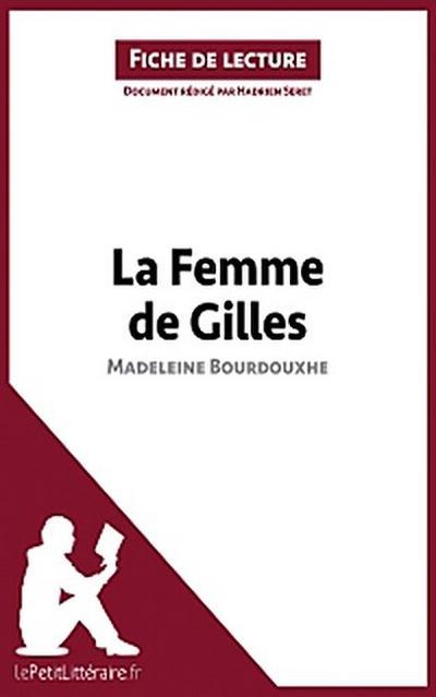 La Femme de Gilles de Madeleine Bourdouxhe (Fiche de lecture)