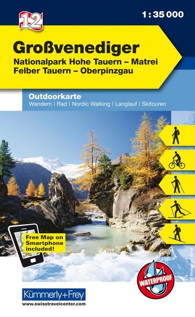 KuF Österreich Outdoorkarte 12 Großvenediger 1 : 35 000