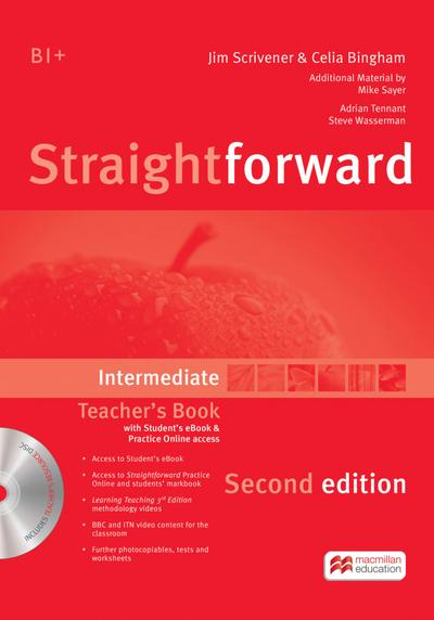 Straightforward Second Edition. Intermediate / Teacher's Book with Resource DVD-ROM and ebook
