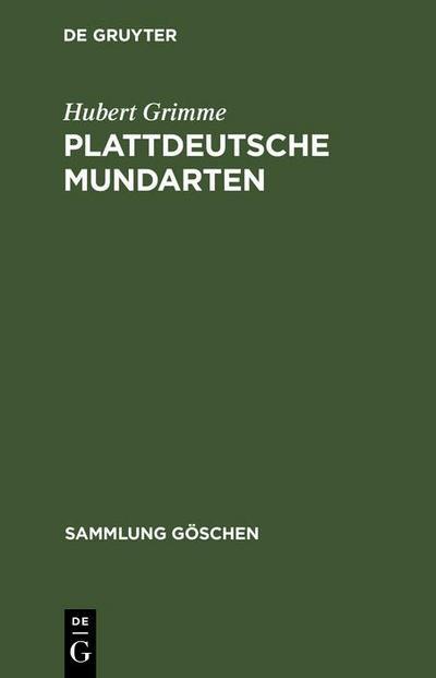 Plattdeutsche Mundarten