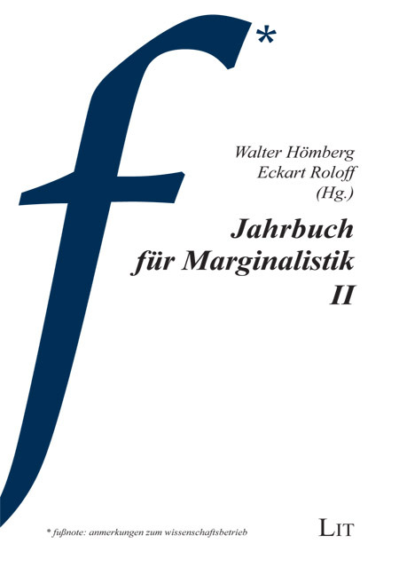 Jahrbuch für Marginalistik II Walter Hömberg