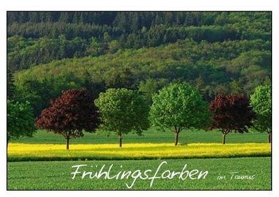 Frühlingsfarben (Tischaufsteller DIN A5 quer)