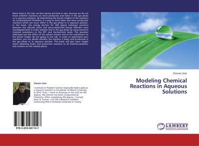 Modeling Chemical Reactions in Aqueous Solutions