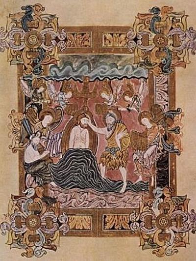 Meister des Benedictionale des Heiligen Aethelwold-Benedictionale des Hl. Aethelwold, Taufe Christi - 100 Teile (Puzzle)