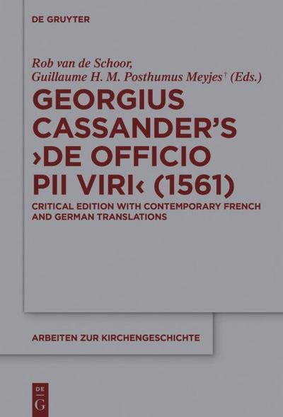 Georgius Cassander's 'De officio pii viri' (1561)