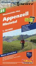 Mountainbike Map 21 Appenzell / Rheintal 1 :  ...