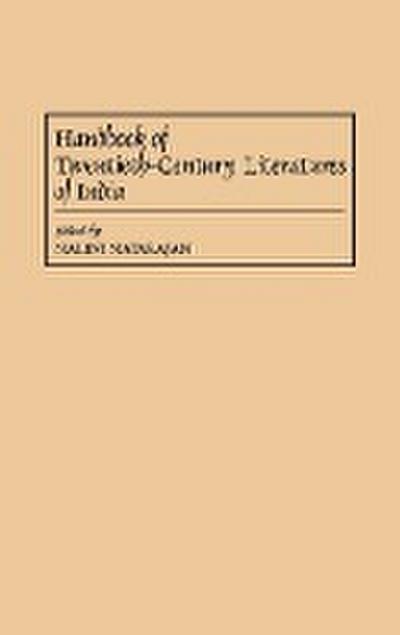 Handbook of Twentieth-Century Literatures of India