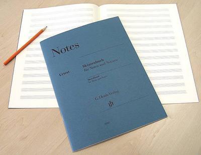 Skizzenbuch für Noten und Notizen