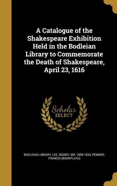 CATALOGUE OF THE SHAKESPEARE E