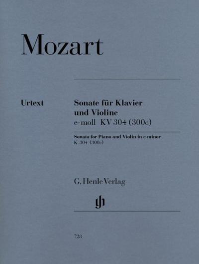 Sonate für Klavier und Violine e-moll KV 304 (300c)
