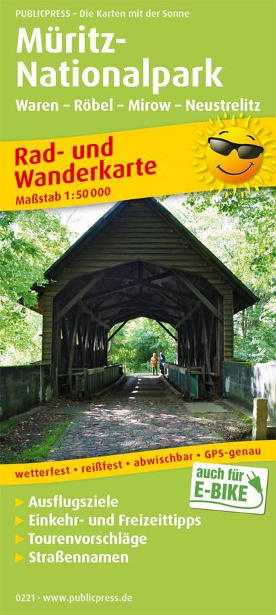 Müritz-Nationalpark, Waren - Röbel - Mirow - Neustrelitz: Rad- und Wanderkarte mit Ausflugszielen, Einkehr- & Freizeittipps, Nebenkarte Müritz ... 1:50000 (Rad- und Wanderkarte: RuWK)