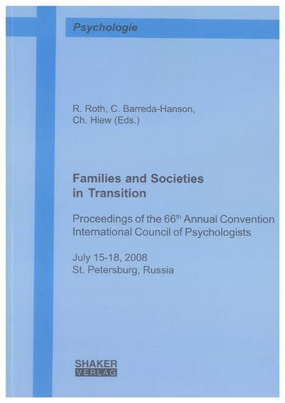 Families and Societies in Transition