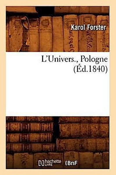 L'Univers., Pologne (Ed.1840)