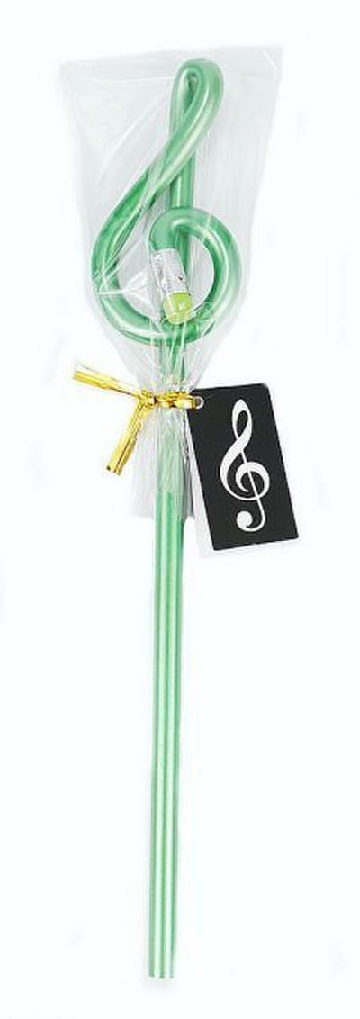 Bleistift Form Violinschlüssel grün Holz 24 cm