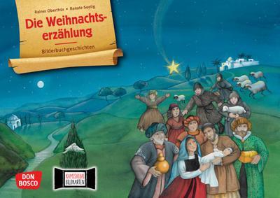 Die Weihnachtserzählung. Kamishibai Bildkartenset