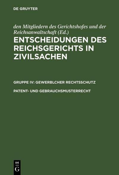 Patent- und Gebrauchsmusterrecht