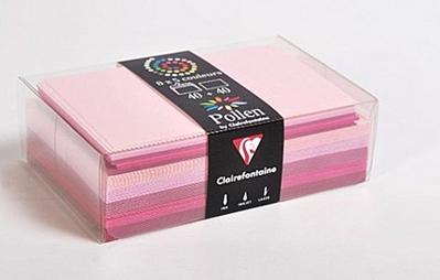 Farblich sortierte Umschläge & Karten Rosa als Set