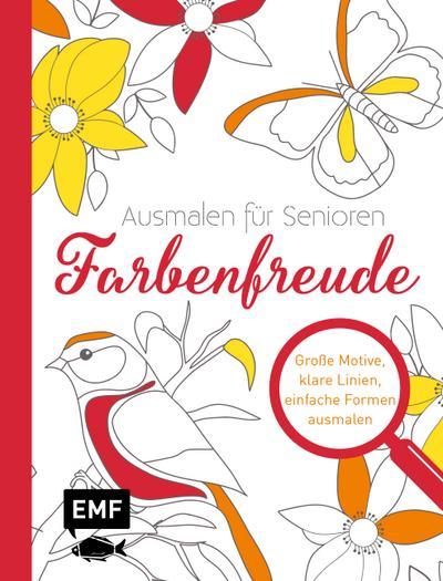 Inspiration Lebenslinien – Farbenfreude; Große Motive, klare Linien, einfache Formen ausmalen; Deutsch