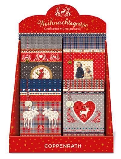 Weihnachtsgrüße Grußkarten-Sortiment mit Kuvert (4 x 6 Ex.)