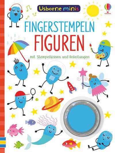 Usborne Minis: Fingerstempeln Figuren: mit Stempelkissen und Anleitungen