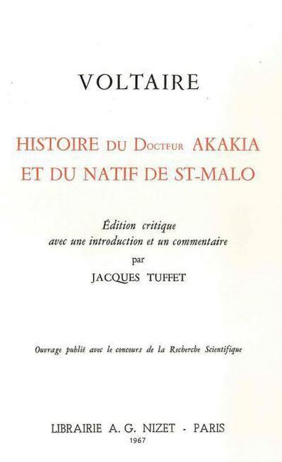 Histoire Du Docteur Akakia Et Du Natif de St-Malo