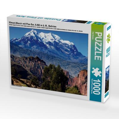 Illimani-Massiv mit Pico Sur, 6.462 m ü. M., Bolivien (Puzzle)