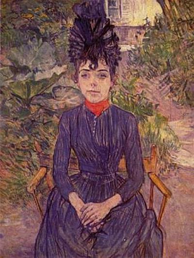Henri de Toulouse-Lautrec - Porträt der Justine Dieuhl im Garten von 'Père Forest' - 200 Teile (Puzzle)