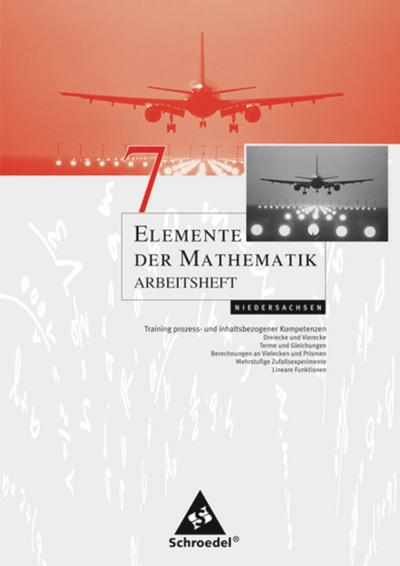 Elemente der Mathematik 7. Arbeitsheft. Sekundarstufe 1. Niedersachsen