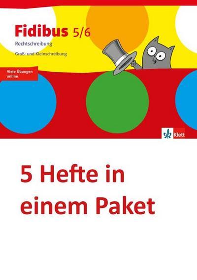 Fidibus 5/6. Arbeitsheft. Rechtschreibung - Groß- und Kleinschreibung (5er-Paket)