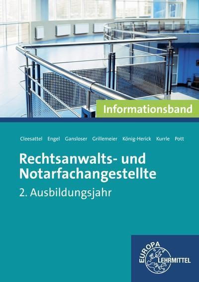 Rechtsanwalts- und Notarfachangestellte, Informationsband 2. Ausbildungsjahr