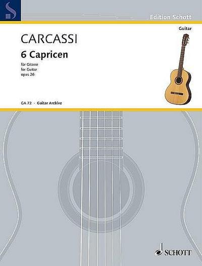 6 Capricen op.26für Gitarre