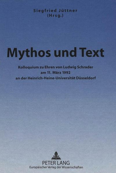 Mythos und Text