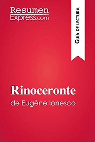 Rinoceronte de Eugène Ionesco (Guía de lectura)