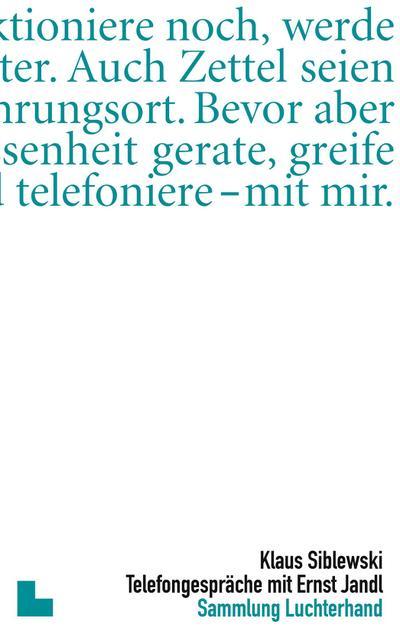 Telefongespräche mit Ernst Jandl