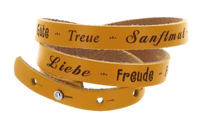 Wickelarmband Leder Liebe, Freude, Frieden, Geduld - Scm Collection - Misc., Deutsch, , ,