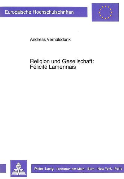 Religion und Gesellschaft: Félicité Lamennais