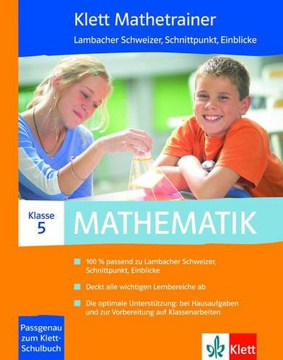 Klett Mathetrainer. 5. Schuljahr. CD-ROM für Windows 2000/7/Vista/XP