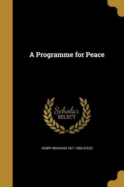 PROGRAMME FOR PEACE