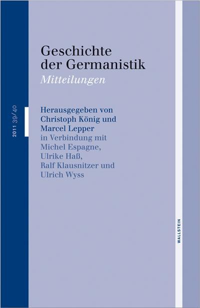 Geschichte der Germanistik: Mitteilungen
