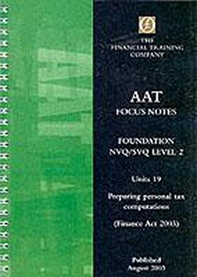 PERSONAL TAXATION COMPUTATIONS FA2003 19